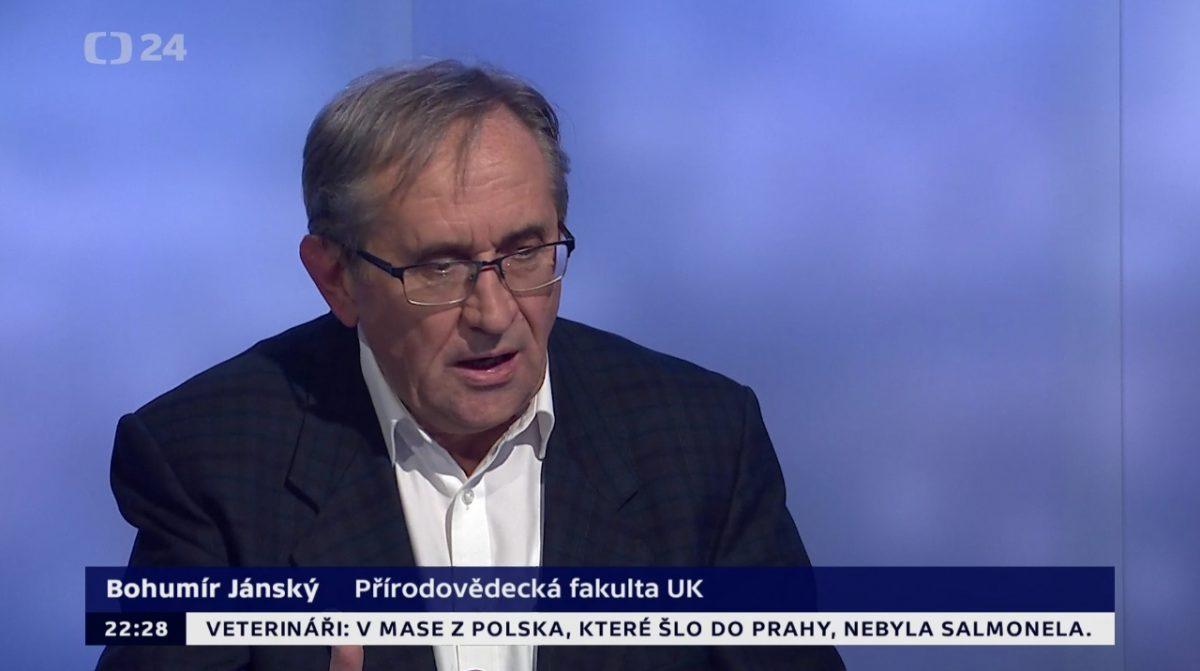 Prof. Janský v diskuzi na ČT24 na téma nového jezu na Labi