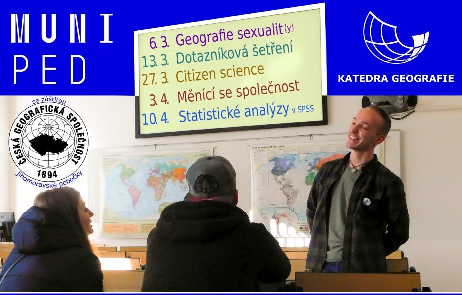 Jarní přednášky organizované jihomoravskou pobočkou ČGS