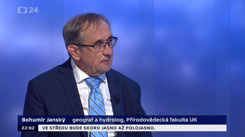 Profesor Bohumír Janský v pořadu Události, komentáře