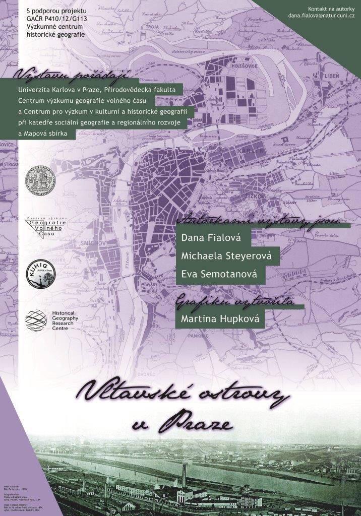Vltavské ostrovy v Praze – výstava v Knihovně Václava Štecha ve Slaném