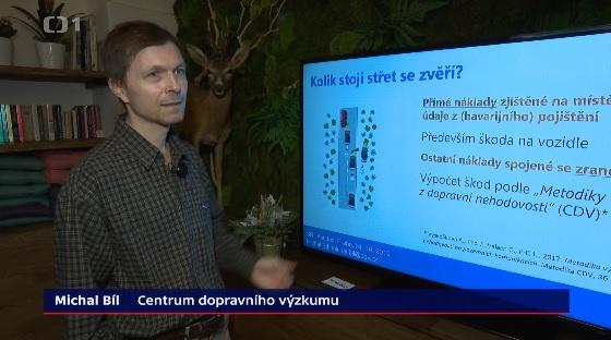 Michal Bíl o srážkách vozidel se zvěří v Událostech na ČT
