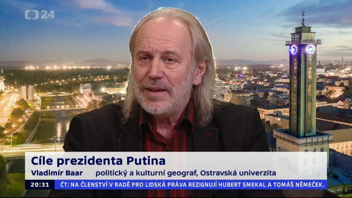 Profesor Baar na téma Ruské vládní šachy na ČT24