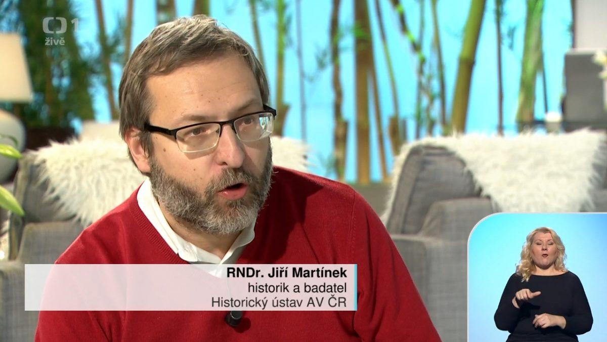 Geograf Jiří Martínek v pořadu Sama doma