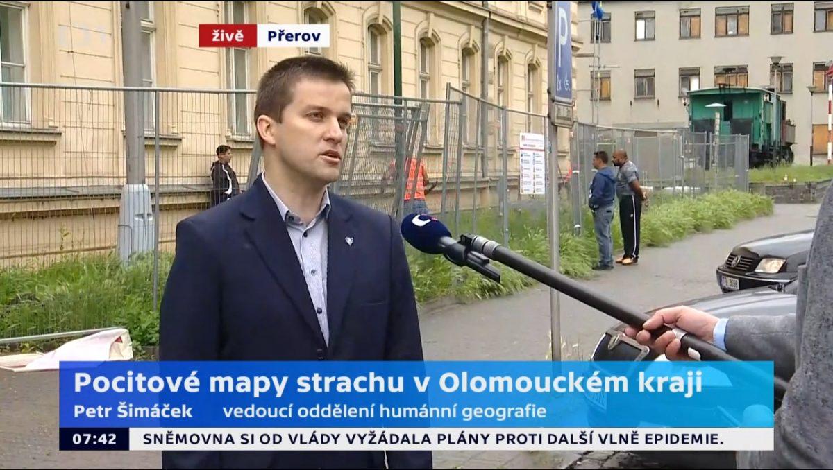 Dr. Petr Šimáček ve vysílání ČT o mapách strachu v Olomouckém kraji