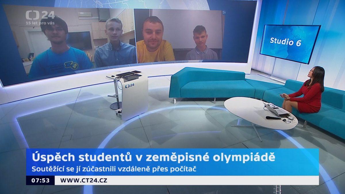 Účastníci mezinárodní olympiády EGEO ve vysílání Studia 6